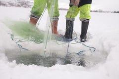 Ice lake fishing Royalty Free Stock Photo
