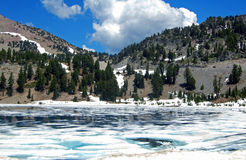 Ice lake lassen Stock Photography