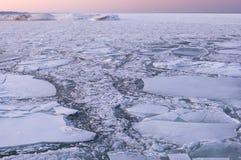 Ice Lake Michigan stock photo