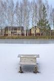 Ice on lake royalty free stock photography