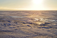 The ice on the lake Pskovskoe. Royalty Free Stock Photography
