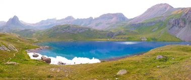 Ice Lake in the San Juan Mountains of Colorado in the Evening stock photography