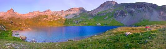 Ice Lake in the San Juan Mountains of Colorado stock photo