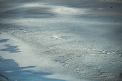 Ice on lake water cold winter day Royalty Free Stock Photos