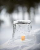 Ice lantern Stock Photo