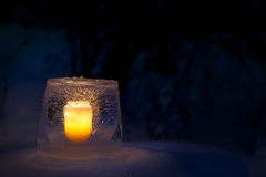 Ice lantern Royalty Free Stock Photos