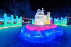 The ice-lantern festival. The photo was taken in Zhaolin park   Harbin city Heilongjiang province,China Stock Images