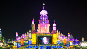 Ice lantern palace china. 2013 ice & snow world harbin China Stock Photo