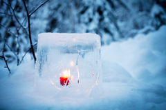 Ice lantern Royalty Free Stock Images