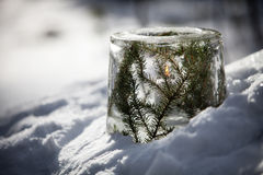 Ice lantern Royalty Free Stock Photo