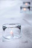 Ice lantern Royalty Free Stock Photography
