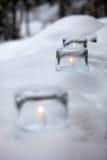 Ice lantern Stock Photography