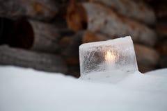 Ice lantern Royalty Free Stock Image
