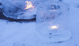 Ice lanterns Royalty Free Stock Photo