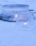 Ice lanterns Royalty Free Stock Image