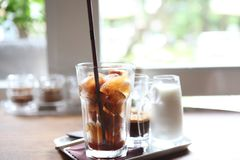 Iced Latte coffee. On the table royalty free stock photo