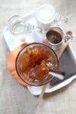 Ice latte coffe Stock Photo
