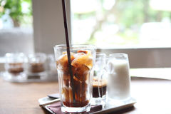Ice latte coffe Stock Image