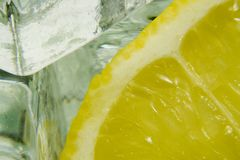 Ice and lemon Stock Photo