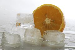 Ice and lemon Royalty Free Stock Image