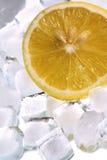 Ice and lemon. Fresh cold ice and acid lemon Royalty Free Stock Photo