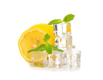 Ice, lemon and mint Royalty Free Stock Photo