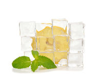 Ice, lemon and mint Royalty Free Stock Image