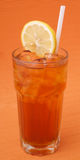 Ice lemon tea, drink, on white background Stock Photos