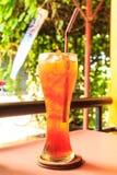 Ice lemon tea. Drinks quenching. Refreshing Royalty Free Stock Photo