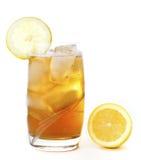 Ice lemon tea isolated Stock Photo