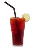 Ice lemon tea, Isolated, clipping path Royalty Free Stock Photos