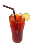 Ice lemon tea, Isolated, clipping path Royalty Free Stock Images