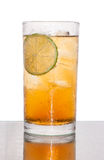 Ice lemon tea soda Stock Photos