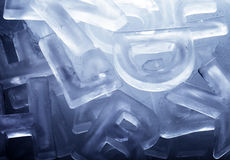 Ice Letters Royalty Free Stock Photo