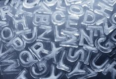 Ice Letters. Different letters made from real ice Royalty Free Stock Images