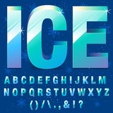 Ice Letters royalty free illustration