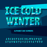 Ice letters and numbers Royalty Free Stock Image