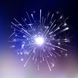 Ice Light fireworks. Light fireworks on a dark background. Vector festive wallpaper Stock Images
