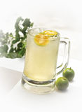 Ice lime juice stock photos