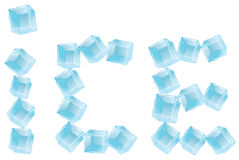 Ice logo Royalty Free Stock Photo