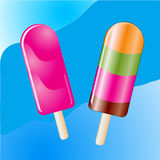 Ice lollies Stock Image
