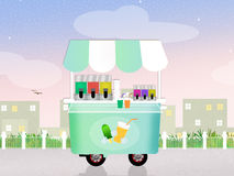 Ice lollies cart Stock Images