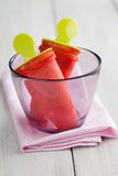 Ice lollies in a glass Royalty Free Stock Photography