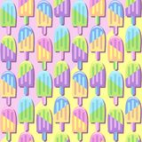 Ice Lollipops Popsicles Summer Punchy Pastels Colors Pattern Royalty Free Stock Images