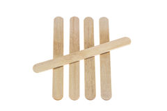 Ice lolly sticks Royalty Free Stock Image