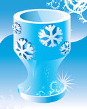 Ice magic cup vector illustration. Royalty Free Stock Photography