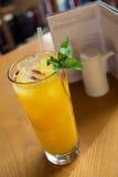Ice mango goji mint drink Stock Photo
