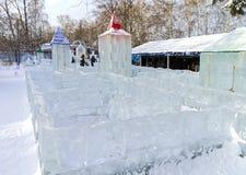 Ice maze Royalty Free Stock Photo