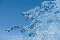 Ice Melting Against Sky Stock Images