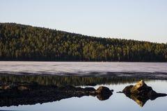 Ice melting in Lapland Stock Image
